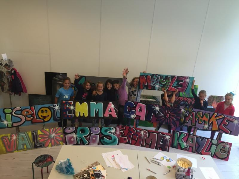 Workshop Graffiti verjaardag MAYTE 2015