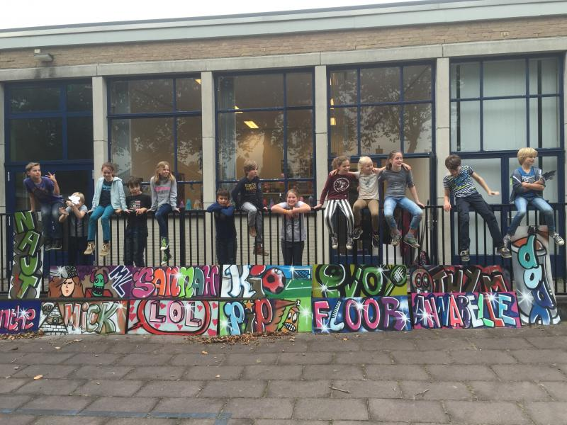 Workshop Graffiti DAAN in het atelier van MORIS 2015